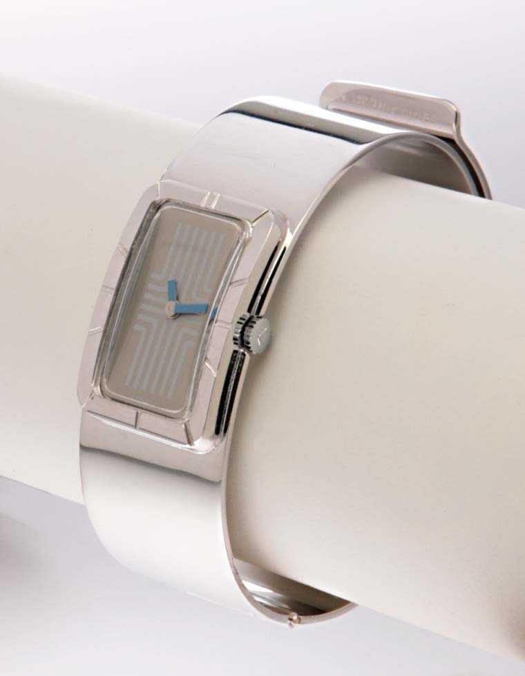 LANVIN (Bracelet de Force Rectangle / Chromé), vers 1975