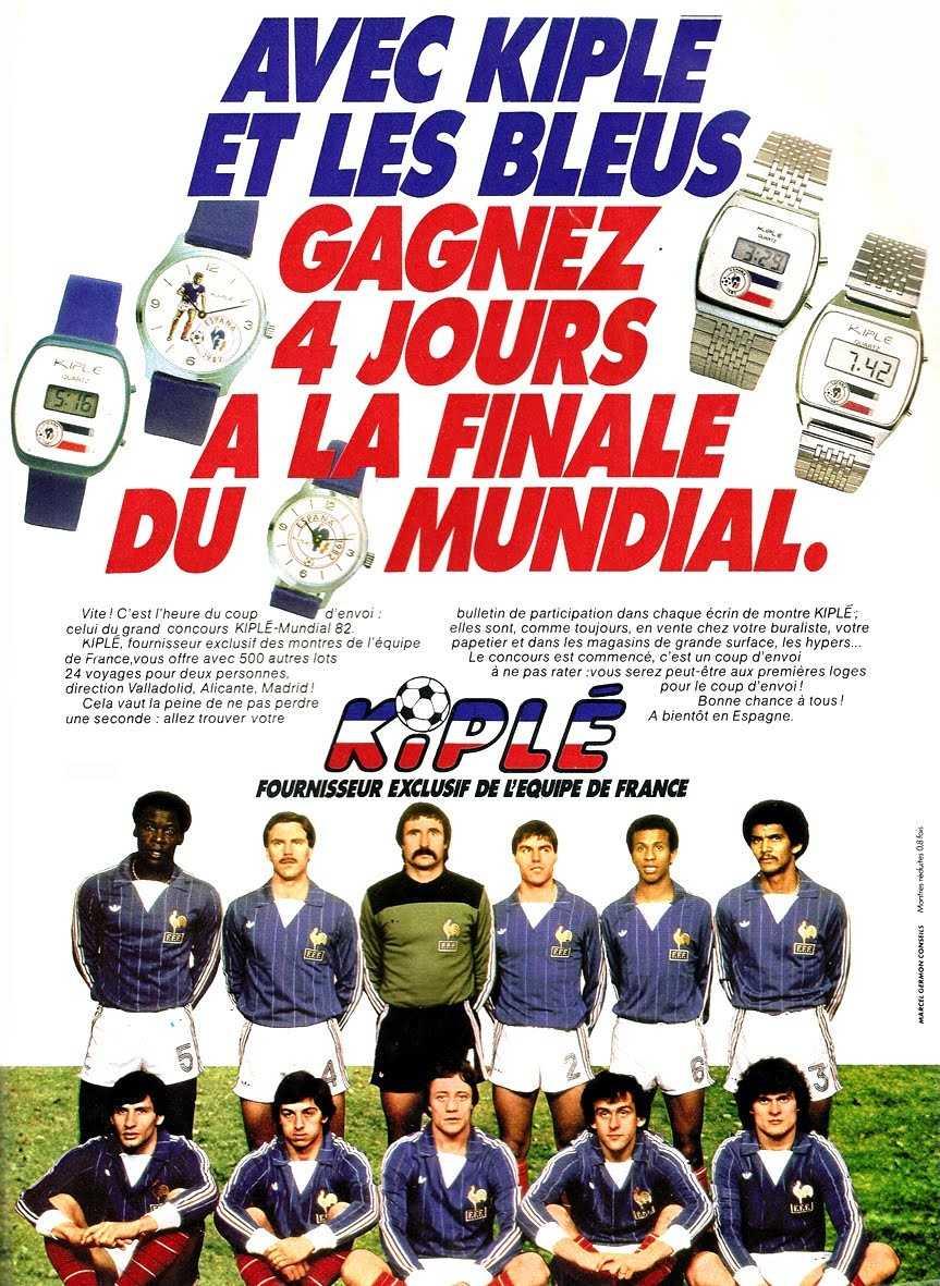 Kiple by lip homme espa a coupe du monde de football vers 1982 vintage watch story - Coupe du monde de football 1982 ...