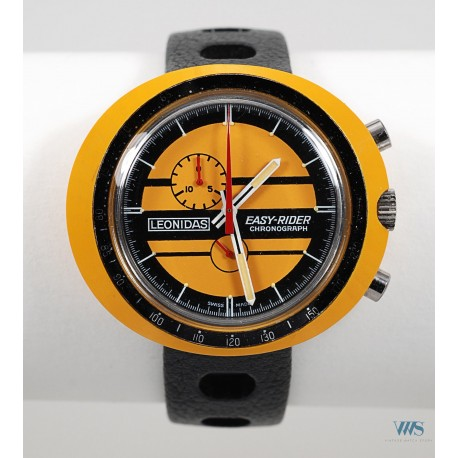 LEONIDAS (Chronographe Easy Rider / Jaune réf . 423.809J), vers 1972