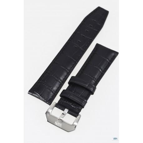 Bracelet en cuir 22mm VWS - Noir