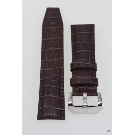 Bracelet en cuir 22 mm VWS - Marron
