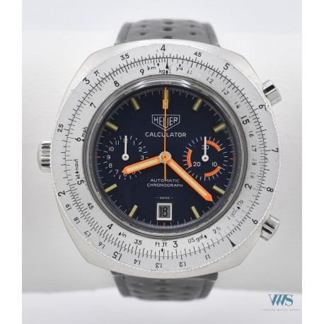 HEUER (CHRONOGRAPHE CALCULATOR - CHRONOMATIC / BLUE / Ref. 110.633 M), vers 1974