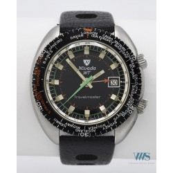 NIVADA GRENCHEN (Travelmaster - Submarine World Time / Alarm réf. 87020), vers 1972