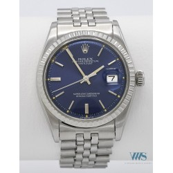 ROLEX (OYSTER PERPETUAL DATEJUST- BLUE RÉF. 1603), vers 1975