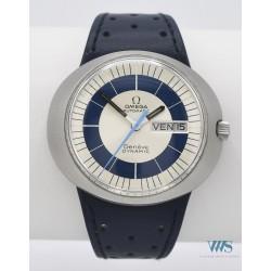 OMEGA (Dynamic Genève - Automatique / Silver & Blue - Double Date réf. 166.079), vers 1969