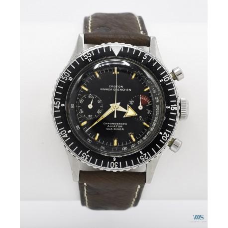 CROTON NIVADA GRENCHEN (Chronomaster Aviator - Sea Diver / 1ère Génération réf. 105), vers 1961