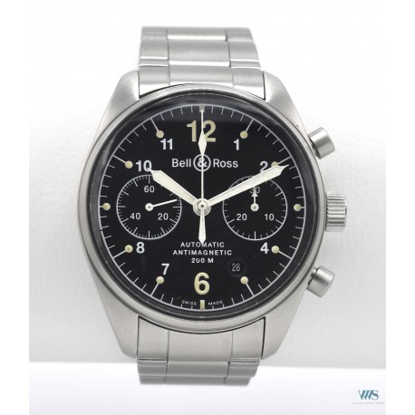 BELL & ROSS (CHRONOGRAPHE PILOTE VINTAGE - ANTIMAGNETIC 200 M RÉF. 126.S01291), vers 2003