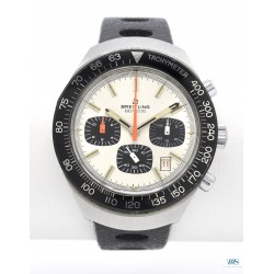 BREITLING (Chronographe Long Playing Panda / Silver réf. 7104), vers 1973