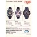 HEUER (Chronographe Sport PVD Black réf. 13-1), vers 1980