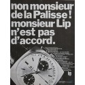 LIP (Chronographe Genève sport panda - Carré / Plaqué or / réf. 43519), vers 1970