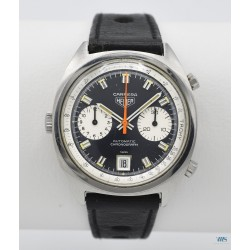 HEUER (Chronographe Carrera - Chrono-Matic / Blue / réf. 1153N first), vers 1969