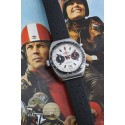 BREITLING (Chronographe Tonneau – Pilote Chronomatic White / réf. 2114), vers 1969