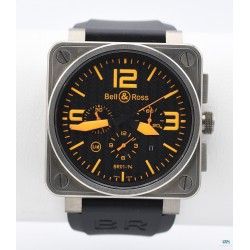 BELL & ROSS (Chronographe Instrument BR 01-94 TITAN - Type Aviation / Orange / 500 exemplaires), vers 2007
