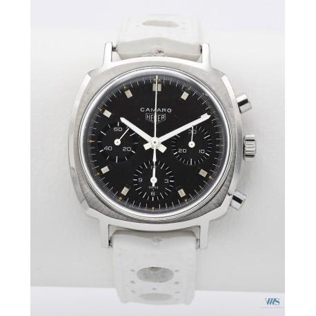 HEUER (Chronographe Camaro - 3 compteurs / Gray / réf. 7220), vers 1968