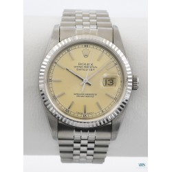 ROLEX (Oyster Perpetual DateJust - Champagne argenté / ref. 16234), vers 1989/90