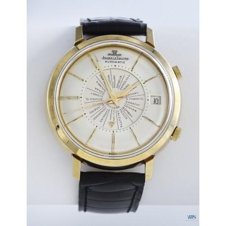 JAEGER-LeCOULTRE (Memovox World Time Automatic / US Market - Plaqué Or / ref. E815/825), vers 1958