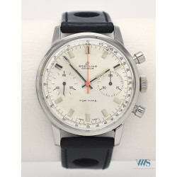 BREITLING (Chronographe Top Time – Silver / Trotteuse orange / ref. 2002-33), vers 1970