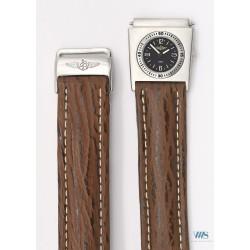 BREITLING (Module UTC Black & bracelet pilote en requins / ref. A61072), vers 1990