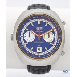 HEUER (Chronographe Montréal – Chrono-Matic / Blue / ref. 110.503B), vers 1972
